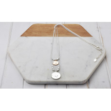Silver & Rose Gold 2 Layer Disc Necklace