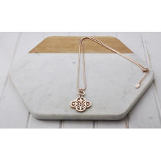 Rose Gold Pendant With Ring Necklace