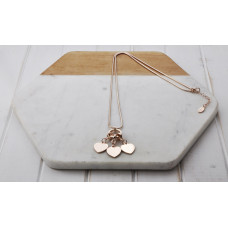 Rose Gold 3 Heart Ring Necklace