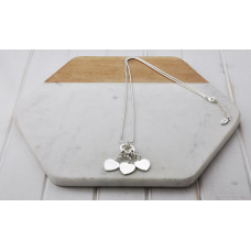 Silver 3 Heart Ring Necklace
