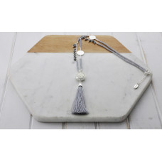 Silver & Grey Tassel Necklace