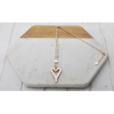 Rose Gold Matt Heart Necklace