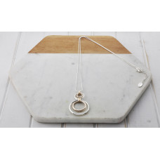Silver & Rose Gold Mixed 2 Ring Necklace