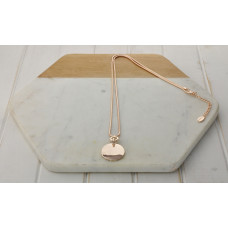 Rose Gold Snake Chain & Disc Necklace