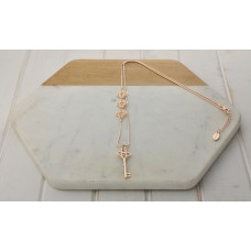Rose Gold Single Key Necklace