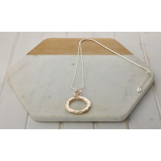 Mixed 2 Ring Necklace
