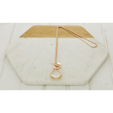 Rose Gold Large Crystal Necklace
