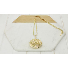 Gold Large Scroll Necklace