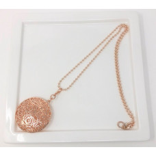 Rose Gold Large Scroll Necklace