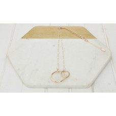 Rose Gold 2 Ring Necklace