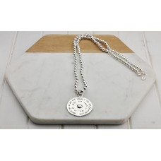 Silver 'Life is What You Make Of It' Necklace