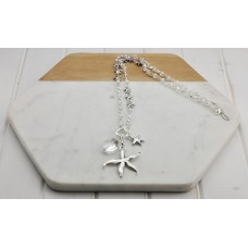 Starfish & Crystal Necklace