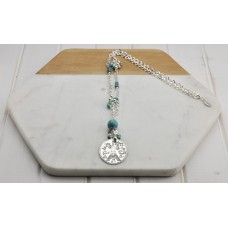 Paris Turquoise & Silver Bead Necklace