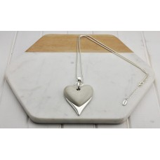 Beige/Grey Resin Heart Necklace