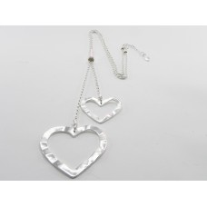 2 Silver Hearts Necklace