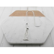 Silver Ring Tassel Necklace