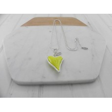 Silver Chain With Yellow Heart Necklace