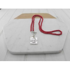 Red Stone With Pendant Necklace