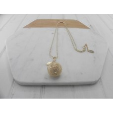 Gold Shimmer Ball Necklace