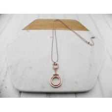 Rose Gold Ring Pendant Necklace