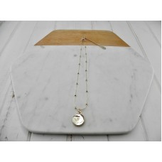 Gold Short Disc Necklace