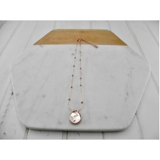 Rose Gold Short Disc Necklace