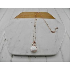 White Resin Pendant Necklace