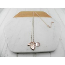 "Rose Gold  ""Love"" Disc Necklace"