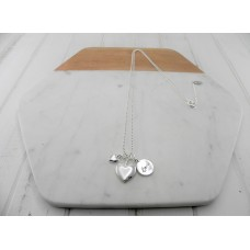 "Silver ""Love"" Disc Necklace"