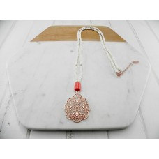 Rose White Coral Necklace