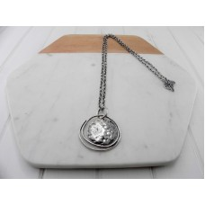 Silver Matt Pendant Necklace