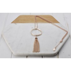 Rose Gold Ring & Tassel Necklace