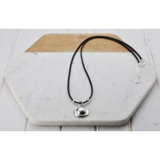 Silver Grey Pearl Pendant Necklace