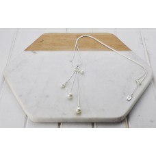 Silver 3 Drop Pearl Necklace