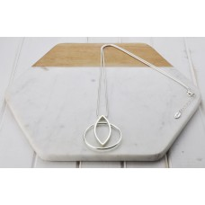 Silver Two Ring Necklace