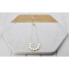 Short Gold Row of Discs Necklace