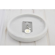 Two Tone Coin Pendant