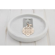 Rose Gold Large Scroll Pendant