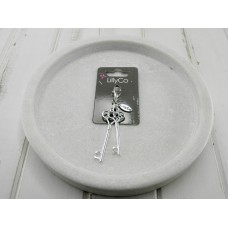 Silver Double Key Pendant