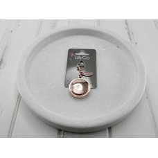 Rose Gold Battered Disc Pendant