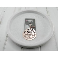 Rose Gold Round Pendant