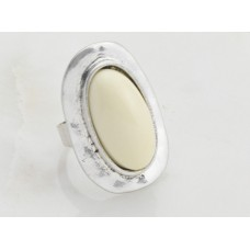 Cream Oval Ring