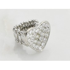 Crystal Heart Finger Ring