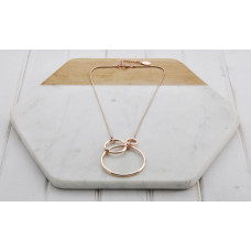 Rose Gold 3 Ring Short Necklace