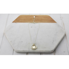 Gold Short Ring & Pendant Necklace
