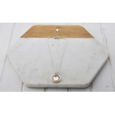 Rose Gold Short Ring & Pendant Necklace
