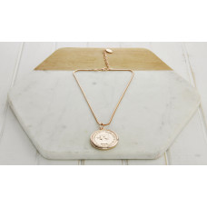 Rose Gold Short Large Coin Necklace