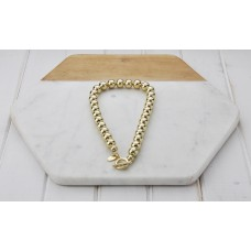 Short Gold Bead Necklace