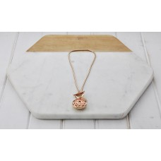 Short Open Locket Rose Gold Necklace