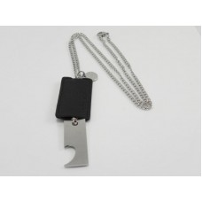 Bottle Opener Stainless Steel Necklace